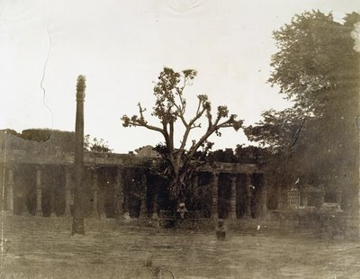 Iron pillar at Kutub, Delhi  - 1858