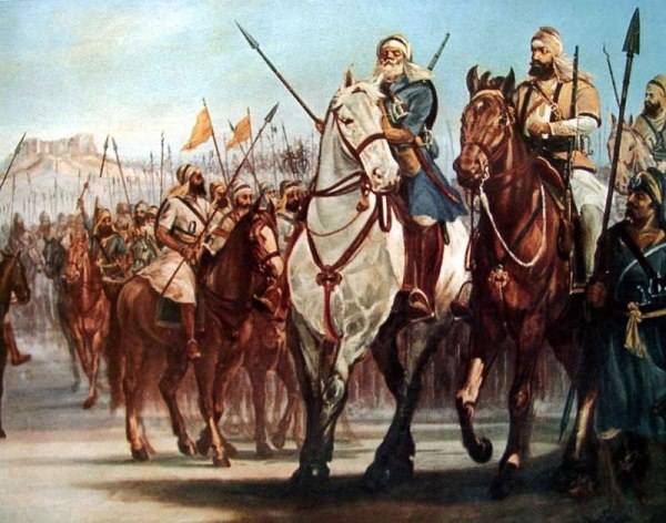 khalsa_forces_assemble_outside_gujranwala_anglo_sikh_wars
